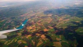 Πτήση LH1675 της Lufthansa που χρησιμοποιείται αεροπορικώς Dolomiti απόθεμα βίντεο