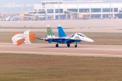 Πτήση SU-27 Στοκ φωτογραφία με δικαίωμα ελεύθερης χρήσης