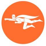 Πτήση Superhero Στοκ Εικόνες