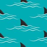Πτερύγια καρχαριών σε ένα μπλε υπόβαθρο ελεύθερη απεικόνιση δικαιώματος