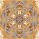 Πτερύγιο του mandala ηλίανθων χειμερινών συμβόλων Στοκ Φωτογραφία