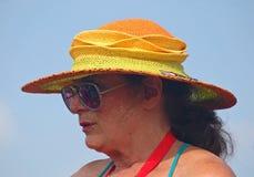 Πτυσσόμενο καπέλο αχύρου για Jazzfest Στοκ Εικόνες