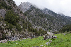 Πτυχές στην κοιλάδα του ποταμού Dugoba στο Κιργιστάν Στοκ εικόνα με δικαίωμα ελεύθερης χρήσης