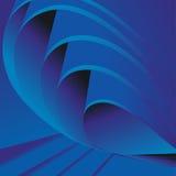 Πτυχές του μπλε εγγράφου ή του υφάσματος Διανυσματική ανασκόπηση Στοκ Φωτογραφίες