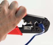 Πτυχώνοντας πένσες και μπλε σκοινί Στοκ εικόνες με δικαίωμα ελεύθερης χρήσης