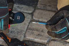Πτυχώνοντας πένσες Στοκ φωτογραφία με δικαίωμα ελεύθερης χρήσης