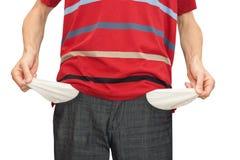πτωχεύσασες κενές τσέπε&sig Στοκ φωτογραφία με δικαίωμα ελεύθερης χρήσης