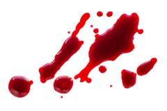 Πτώσεις αίματος που απομονώνονται Στοκ Φωτογραφία