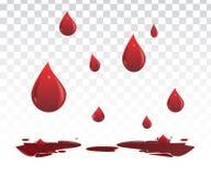 Πτώσεις αίματος Στοκ Φωτογραφία