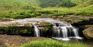 Πτώσεις νερού σε Sohra/Cherra Punji, λόφοι ανατολικού Khasi, Meghalaya Στοκ Φωτογραφία
