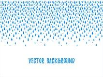 Πτώσεις νερού φθινοπώρου, σταγονίδια, άνευ ραφής σύνορα σταγόνων βροχής διανυσματική απεικόνιση