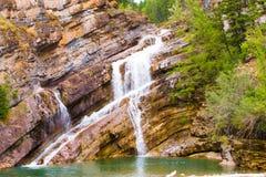 Πτώσεις νερού Waterton, Waterton, Καναδάς Στοκ Φωτογραφία