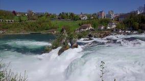 Πτώσεις του Ρήνου σε Schaffhausen, Ελβετία απόθεμα βίντεο