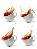 Πτώσεις φλιτζανιών του καφέ ή τσαγιού Στοκ Εικόνες
