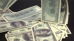 Πτώσεις χρημάτων στην επιφάνεια απόθεμα βίντεο
