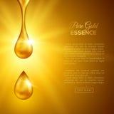 Πτώσεις χρυσού πετρελαίου, ουσία κολλαγόνων Στοκ Εικόνες