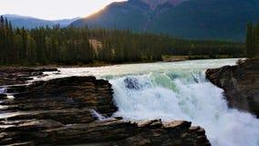 Πτώσεις Athabasca στην ιάσπιδα στοκ φωτογραφίες