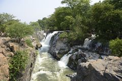 Πτώσεις Hogenakkal σε Karnataka, Ινδία Στοκ εικόνα με δικαίωμα ελεύθερης χρήσης