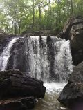 Πτώσεις Kilgore, κρατικό πάρκο βράχων, Μέρυλαντ Στοκ φωτογραφία με δικαίωμα ελεύθερης χρήσης