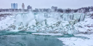 Πτώσεις Niagara το χειμώνα Στοκ εικόνες με δικαίωμα ελεύθερης χρήσης