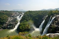 Πτώσεις Shivanasamudra σε Karnataka, Ινδία Στοκ Εικόνα