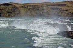 Πτώσεις Urriðafoss από την κορυφή Στοκ Εικόνα