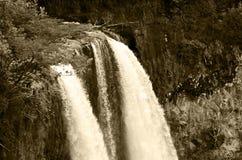 Πτώσεις Wailua στον τόνο σεπιών Στοκ φωτογραφίες με δικαίωμα ελεύθερης χρήσης