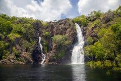 Πτώσεις Wangi, εθνικό πάρκο Litchfield, Βόρεια Περιοχή, Αυστραλία Στοκ φωτογραφίες με δικαίωμα ελεύθερης χρήσης