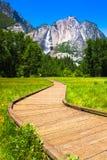 Πτώσεις Yosemite στο εθνικό πάρκο Yosemite, Καλιφόρνια Στοκ Εικόνες