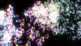 Πτώση αστεριών ουράνιων τόξων Φωτεινό αστέρι σπινθηρίσματος Πολύχρωμος Αφηρημένο σχέδιο ουράνιων τόξων