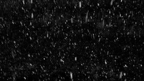 Πτώση κάτω από snowflakes απόθεμα βίντεο