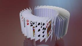 Πτώση καρτών πόκερ Στοκ εικόνα με δικαίωμα ελεύθερης χρήσης