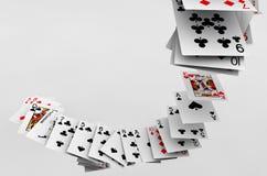 Πτώση καρτών πόκερ Στοκ Εικόνες
