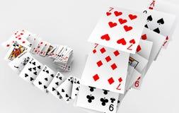 Πτώση καρτών πόκερ Στοκ Φωτογραφίες
