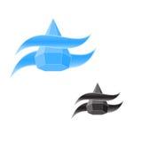 Πτώση νερού λογότυπων Στοκ Φωτογραφία