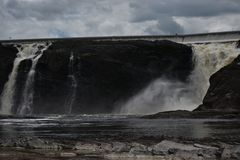 Πτώση νερού ποταμού Λα Chaudiere στοκ εικόνες με δικαίωμα ελεύθερης χρήσης