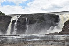 Πτώση νερού ποταμού Λα Chaudiere στοκ φωτογραφίες