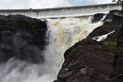 Πτώση νερού ποταμού Λα Chaudiere στοκ φωτογραφία με δικαίωμα ελεύθερης χρήσης