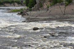 Πτώση νερού ποταμού Λα Chaudiere στοκ εικόνα