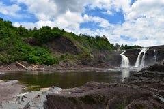 Πτώση νερού ποταμού Λα Chaudiere στοκ εικόνες