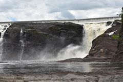 Πτώση νερού ποταμού Λα Chaudiere στοκ εικόνα με δικαίωμα ελεύθερης χρήσης