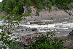 Πτώση νερού ποταμού Λα Chaudiere στοκ φωτογραφία