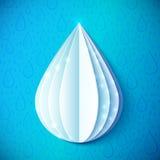 Πτώση νερού της Λευκής Βίβλου στο ύφος origami ελεύθερη απεικόνιση δικαιώματος