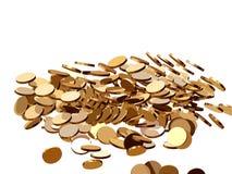 Πτώση 3 νομισμάτων Διανυσματική απεικόνιση