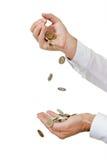 πτώση νομισμάτων στοκ εικόνα