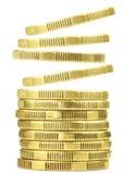 πτώση νομισμάτων Στοκ Φωτογραφίες