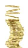 πτώση νομισμάτων Στοκ Εικόνες