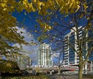 πτώση πόλεων σύγχρονη Στοκ εικόνες με δικαίωμα ελεύθερης χρήσης