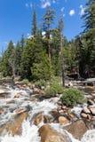 Πτώση της Νεβάδας στο εθνικό πάρκο Yosemite, Καλιφόρνια, ΗΠΑ Στοκ Εικόνες