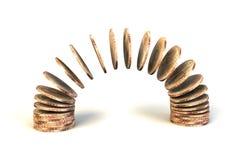πτώση δολαρίων νομισμάτων Στοκ Εικόνες